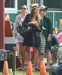 Holiday mode: Jessica Alba looked as though a spot of well-earned rest and relaxation in H...
