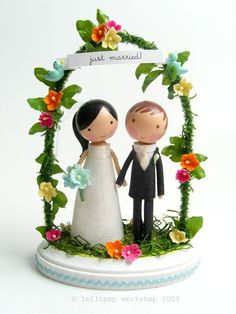 This is pretty much as cute as you can get. It's even sweeter than the cake it will sit on!