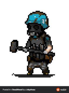 Pixel Characters, Pixel Art Games, Dead Zombie, Zimbabwe, Warfare, Art Tutorials, Game Art, Character Design, Lion Sculpture