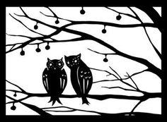 Scherenschnitte: Owl Scherenschnitte