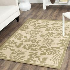 "Safavieh Natural/Brown Geometric Indoor/Outdoor Rug (5'3"" x 7'7"") 