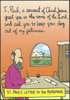 Man, I love Bible humor! Doesn't pin back to anything, sadly. Christian Comics, Christian Cartoons, Funny Christian Memes, Christian Humor, Christian Faith, Catholic Jokes, Catholic Bible, Bible Cartoon, Jw Humor