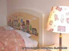 Hello Kitty room night table&lamp shade