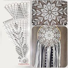 Crochet Doily Diagram, Crochet Mandala Pattern, Doily Patterns, Filet Crochet, Crochet Doilies, Knit Crochet, Crochet Patterns, Crochet Wall Art, Crochet Crop Top
