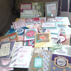 These are the 40 cards I got in return for my Monstermaniacs cards!  They were all so pretty! Visit my blog at: www.stampinjo.stampinup.net