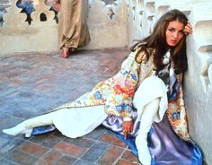 The ultimate bohemian babe, Talitha Getty, inspired today's Line We Love story on HOLY TEE fashion, moroccan design, yves saint laurent, talithagetti, style icons, boho, morocco, talitha getti, bohemian
