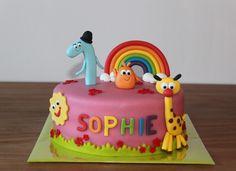 Kindertaarten 2 - Koning Kikker.                 Baby tv cake