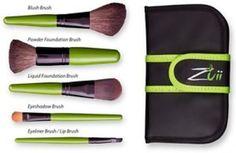 Zuii Organic make-up 5 brush set + Free shipping!