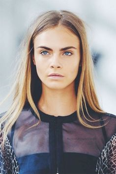 """We love Cara DeLevingne's """"long hair, don't care"""" attitude and style! Ash Grey Hair, Grey Hair Looks, Silver Grey Hair, Dying Your Hair, Hair Inspiration, Blonde Hair, Ashy Blonde, Cool Hairstyles, Hair Makeup"""