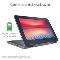 ASUS Chromebook Flip C213SA-YS02 11.6 inch Ruggedized & Water Resistant, Touchscreen, Intel Dual-Core Apollo Lake N3350 , 4GB DDR4 RAM, 32GB Flash Storage,  USB Type-C, Supports Android Apps