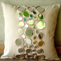 Reflectors  Throw Pillow Covers  20x20 Inches by TheHomeCentric