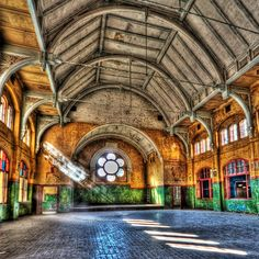 Beelitz Heilstätten - place where Rammstein filmed new Mein Herz Brennt (Piano and Explicit Version)  Russische Turnhalle Beelitz Heilstätten by Lens Daemmi, via Flickr