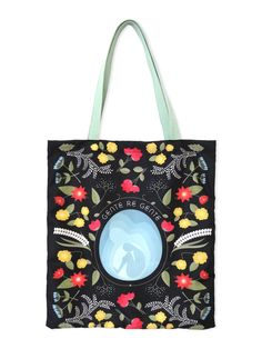 Tote bag with floral pattern