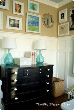Thrifty Decor Chick: Our Home. Walls are design inspiration for upstairs.
