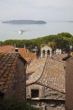 Passignano sul Trasimeno historic village, Umbria, Italy, Europe
