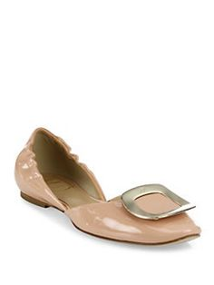 Roger Vivier - Ballerine Chips Patent Leather D'Orsay Flats