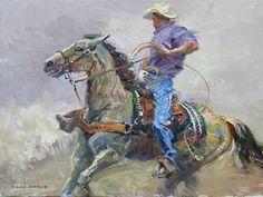 Cowboy Paintings Famous Snowstorm