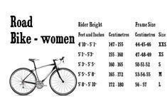 Womens Road Bike Sizing Guide