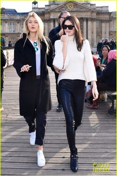 Kendall Jenner is the victim of a very excited fan as she goes sightseeing around Paris, France on Friday (March 6).