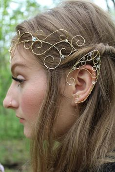 These are my high elf ear cuffs, theyre much taller than the other elfin cuffs I… - piercing Art deco Ear Jewelry, Cute Jewelry, Hippie Jewelry, Yoga Jewelry, Tribal Jewelry, Western Jewelry, Jewellery, Elf Ear Cuff, Ear Cuffs