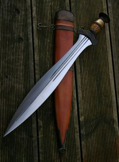 Handmade Celtic Leafblade sword   by Castle Keep, Isle of Skye