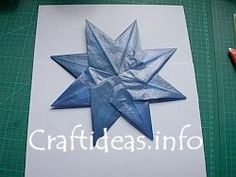 Tutorial - How to Craft Translucent Paper Stars for Christmas - can't remember if i pinned this already
