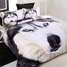 Husky / Wolf - Quilt Cover Set in Single, Double, Queen & King - Great Gift Idea | eBay