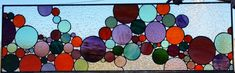 """Stained+Glass+Window+-+""""Lively+bubbles""""+(W-86)"""