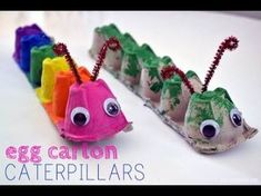 Egg Carton Caterpillar – Balancing Home – Basteln Kinder – Home crafts Kids Crafts, Craft Projects For Kids, Toddler Crafts, Preschool Crafts, Easter Crafts, Diy For Kids, Arts And Crafts, Craft Ideas, Craft Work