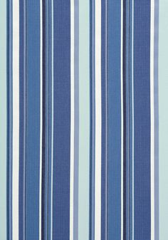 Brighton Stripe #woven #fabric in #blue and #white from the Resort collection. #Thibaut