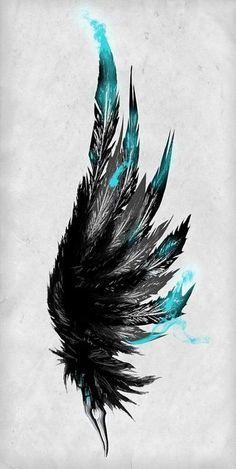 Resultado de imagen de feather wing tattoo