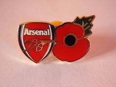 Arsenal fc poppy #football pin #badge. team badge and poppy #design af,  View more on the LINK: http://www.zeppy.io/product/gb/2/311691681892/