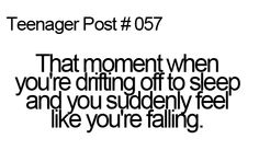Teenager post #57 - a moment of absolute terror.
