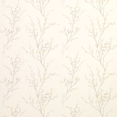 Laura Ashley Pussy Willow Off White/Dove Grey Floral Wallpaper