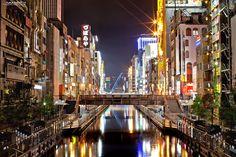 夜の道頓堀(大阪) night at Dotonbori, Osaka