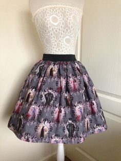 Disney Villains Full Skater Style Skirt