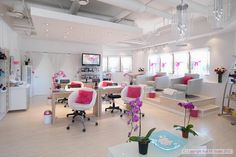 love the style especially the chairs but, needs more privacy for the pedi's.