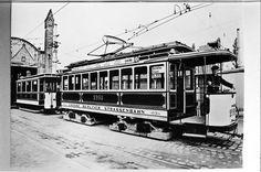 Berlin: Zug der großen Berliner Straßenbahn 1924