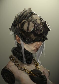 Blind Cyberpunk Girl