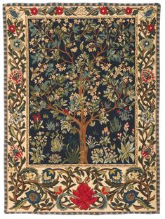 tapestry wall hanging Tree of Life - Tree of Life wall hanging tapestry - William Morris wall tapestry - William Morris Decor - - This Museum Collection wall tapestry shows the Tree of Life, designed by William Morris March 1 - William Morris, Tapestry Weaving, Tapestry Wall Hanging, Tree Of Life Tapestry, Tapestry Design, Motif Floral, Arts And Crafts Movement, Oeuvre D'art, Textile Art