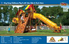 53D King Kong Clubhouse Pkg II with Tube Slide & Much More #swingsets #rainbowplay #rainbowplaysystem #rainbowplaysystems