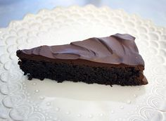 gluten-free chocolate quinoa cake with fudgy chocolate-tofu frosting