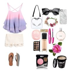 Summer day by dancergurlnev on Polyvore featuring polyvore, fashion, style, MANGO, Abercrombie & Fitch, Uncommon, Topshop, Chanel, MAC Cosmetics and River Island