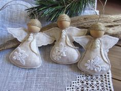 This is a cute Angel Christmas Ornament , to decorate the Christmas tree, wonderful gift for teachers, friends, hostess gifts etc...  These sweet angels are waiting to watch over your home during the holidays. They will look great on the shelf, or as your table centerpiece. They measure 4 inches tall. The angels will be carefully and safely packed for shipping . Price is for 1 angel.