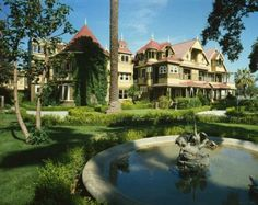 I really want to visit the Winchester Mystery House. Supposedly Sarah Winchester built it for all the spirits of people who were killed by winchester riffles because they were haunting her.