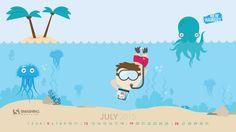 Underwater Selfie wallpaper non-calendar version avail