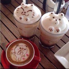 How to make Latte Art: The Basics in Slow Motion - Coffee Brilliant Coffee Latte Art, I Love Coffee, Coffee Coffee, Coffee Cups, Cute Food, Yummy Food, Kawaii Dessert, Cappuccino Machine, Cute Desserts