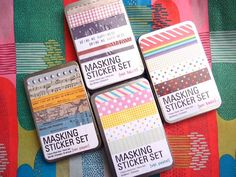 27 sheets Masking Sticker Set with Tin Case