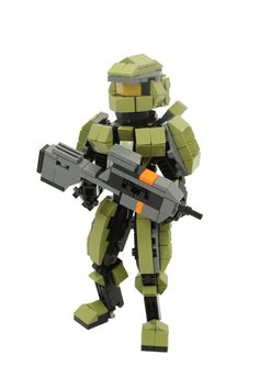 I found this cool mini master chief from halo 4 holding a battle rifle