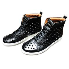 Black Sting Sneakers #studs #shoes